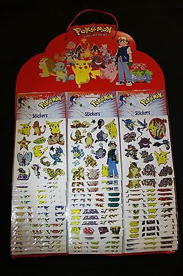 1998 Made Pokémon Laser Holo Foil Stickers/Lot of 42 Sheets Nintendo Original