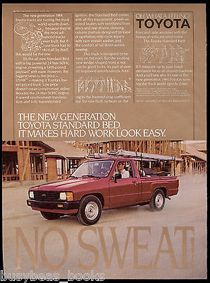 1984 TOYOTA PICKUP advertisement, Toyota standard bed pick-up truck