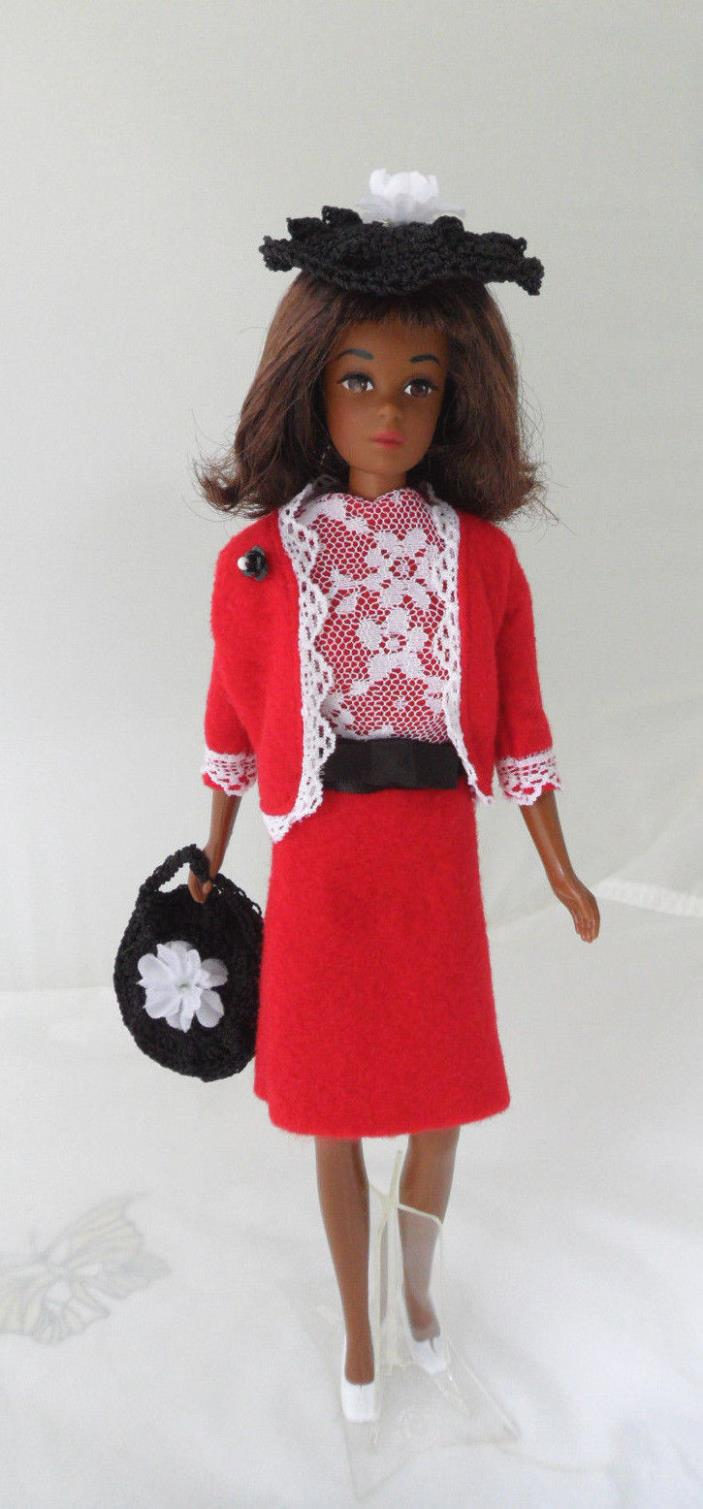Handmade Barbie Francie Clothes, Japanese Fashion Reinterpretation - No Doll