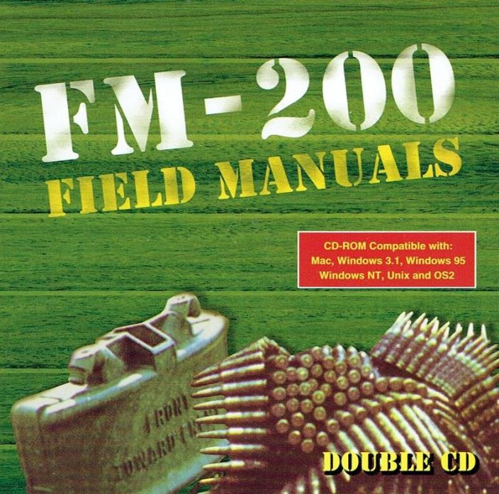 FM-200 Field Manuals - Double CD-ROM Military Media