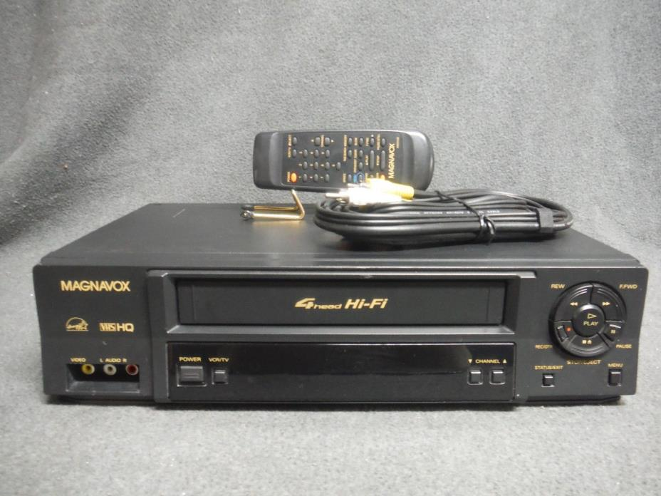 Magnavox VR602BMG21 VCR With Remote Fully Refurbished and Tested.