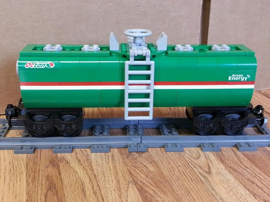 NEW Lego Train Custom Green Octan Car 9