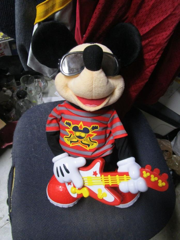 disney mickey mouse rock n roll singing figure