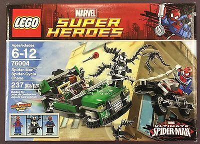 Lego MARVEL SUPER HEROES Spider-Man Cycle Chase 76004 237 pieces VENOM 3 figures