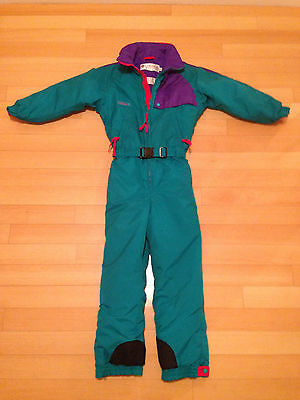 COLUMBIA VINTAGE SNOWBOARD/SKI SUIT/ALL IN ONE YOUTH/KIDS SIZE M