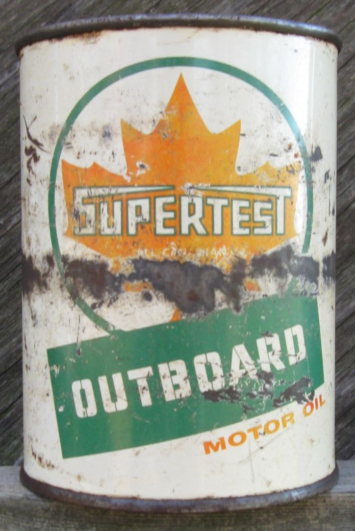 Supertest Outboard Motor Oil Tin Can