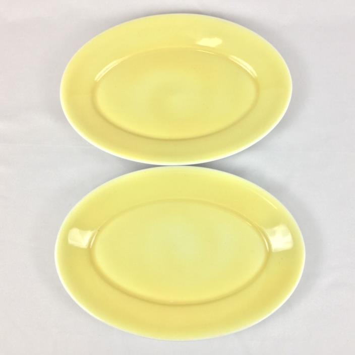 Homer Laughlin TWO Light Yellow Restaurant Ware 13 3/8