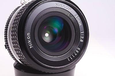 Nikon nikkor 35mm F:2.8 AI-S prime wide angle lens MINT SLR Dslr