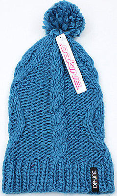 Dakine Womens Wool Beanie NEW Blue Knit Slouchy Ski & Snowboard Hat