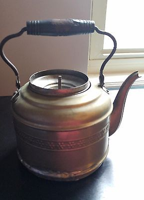Vintage Pewter Teapot with Wooden handle