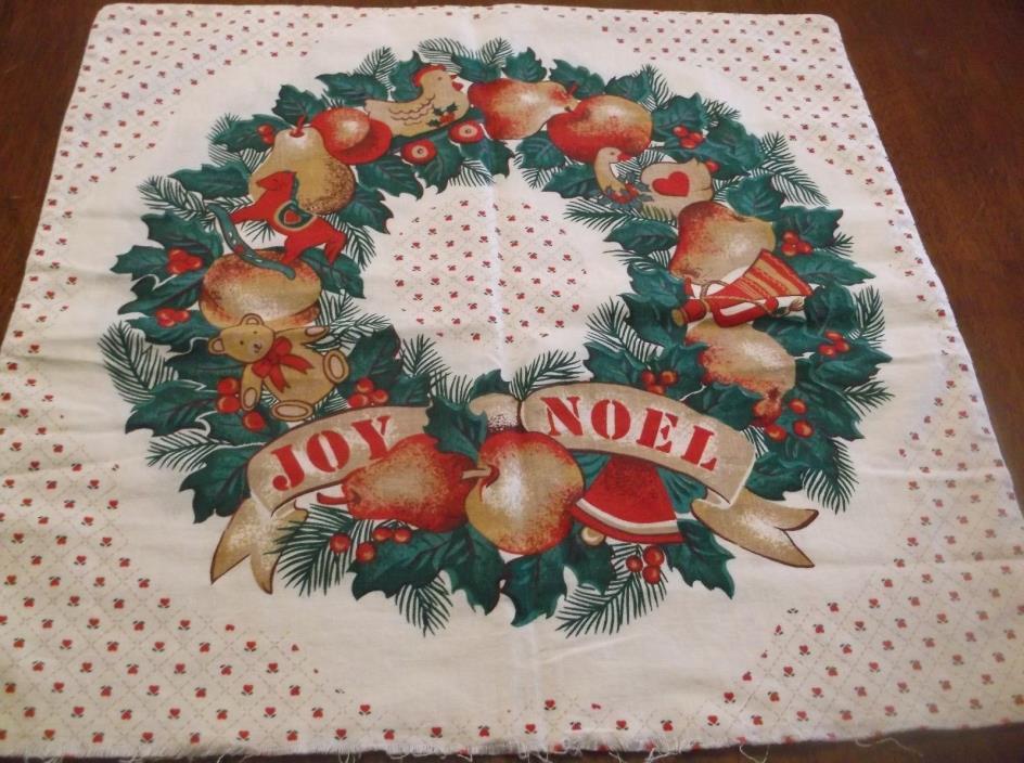 Christmas print fabric pillow cover