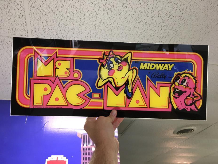 Ms Pac-Man Arcade Marquee - Plexi