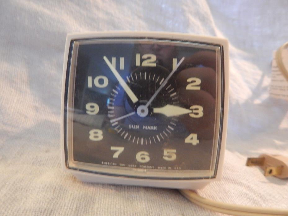 Vintage Small Sun Mark Alarm Clock Japan