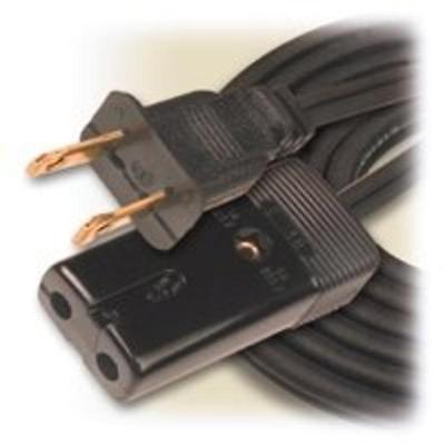 3' Hpn Mini Plug Appliance Cord, Black Woods Extension Cords 293 078693002939