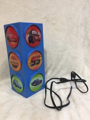 Disney Cars Traffic Light Room Decor Night Light Playroom Light +