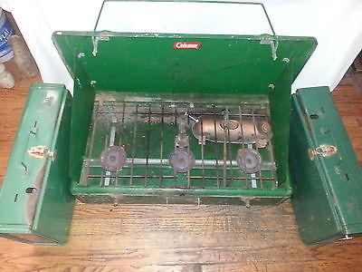 3 vintage portable Coleman grills 2-425E 2 burner & 1-426E 3 burner