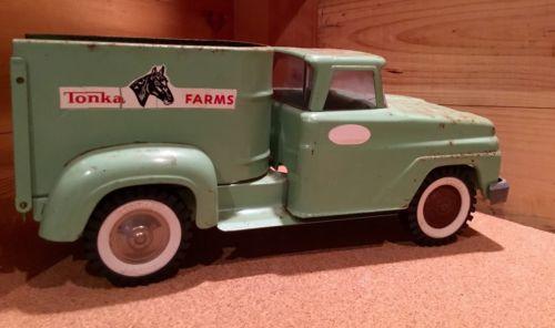 Vintage 1960'S Tonka Farm Horse Truck