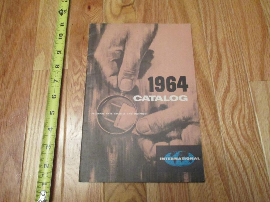 1964 Precision Crystals & Equipment Electronics Ham Radio Gear Catalog