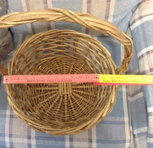 Vintage Large Gold Painted Basket With Handle