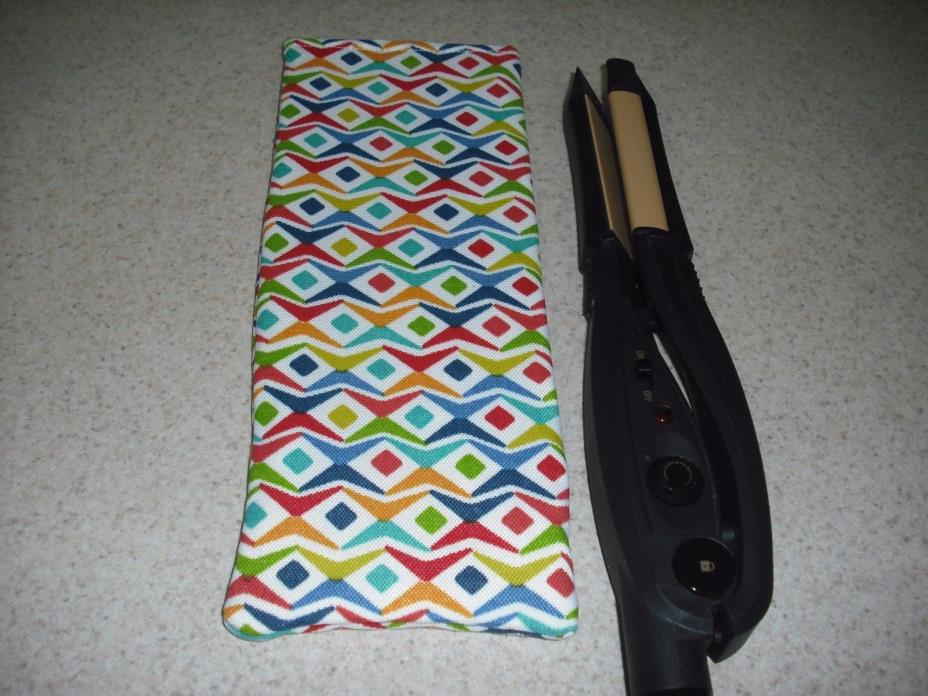 Flat Iron / Curling Iron Fabric Case/ Cover - Abstract Party Time - Bright !!