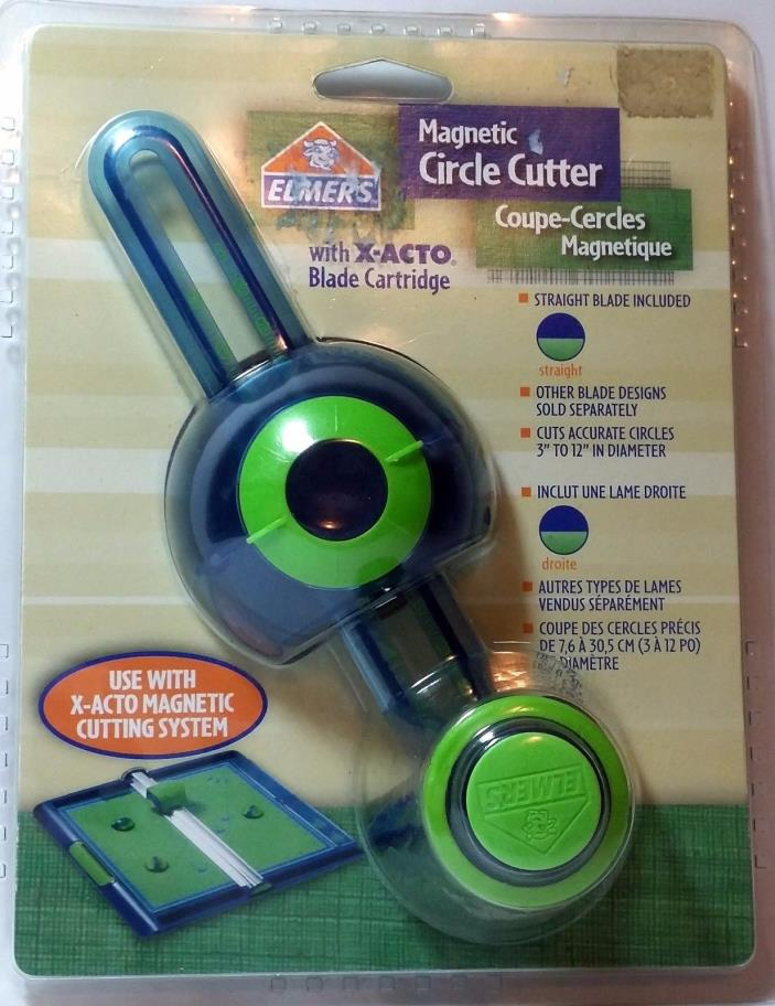 Magnetic Circle Cutter w/X-Acto Blades Elmer's Includes Straight Blade Sealed