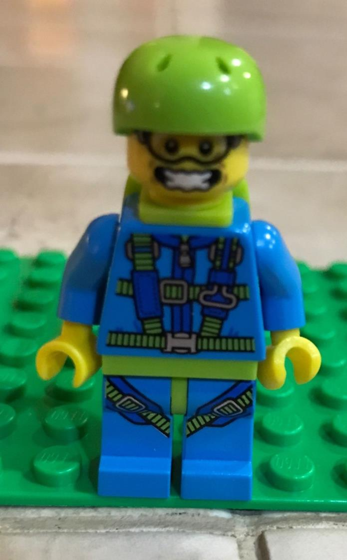 Lego Skydiver With Parachute Minifigure