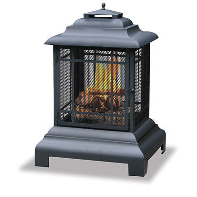Small Wood Stove Amish Fireplace Chiminea Outdoor Outdoor Chimney Fire Pit
