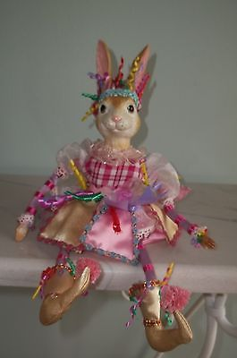 Katherine's Collection Wayne Kleski Rabbit Doll Sitter Party Jester 15