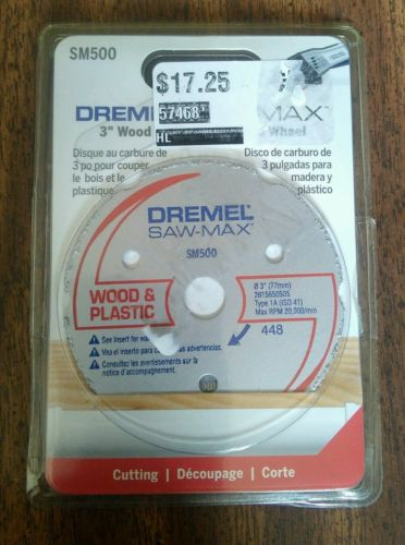 Dremel SM500 3-Inch Wood & Plastic Carbide Wheel - Free Shipping
