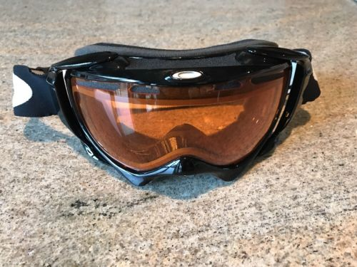 Oakley Crowbar Jet Black VR28 Ski Snow Snowboard Goggles