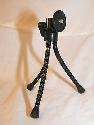 bendable, swivel mini metal tripod for 35 mm slr camera
