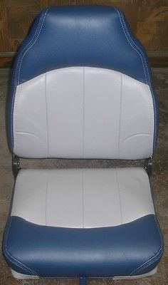 ACTION, HIGH BACK BOAT SEAT GREY/NAVY WD782-0034