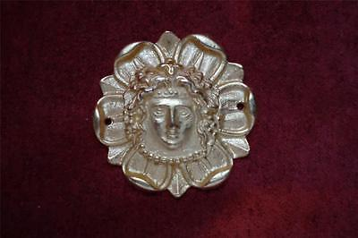NEOCLASSICAL GOLD ROMAN KING FURNITURE MOUNT FRENCH ORMOLU RENAISSANCE ORNAMENT