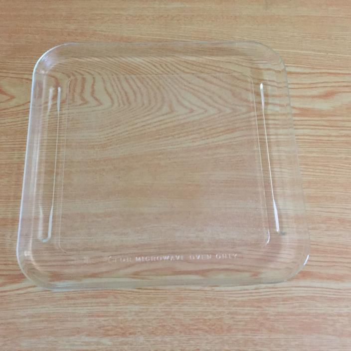 Kenmore Microwave Square Glass Plate / Tray 721.8821980 Replacement part
