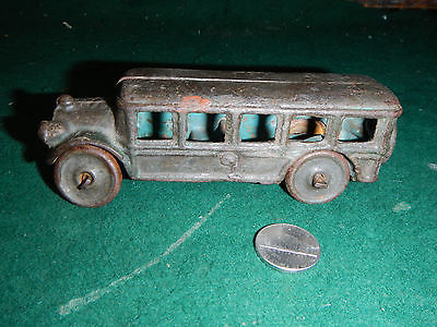 Vintage Hubley Cast Iron Toy Bus