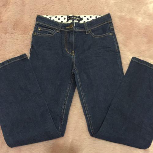 Mini Boden size 9Y Girls Denim straightleg jeans adjustable waist