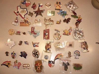 Lot of 50 Texas Lions Club Pins