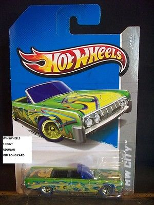 HOT WHEELS 2013 TREASURE HUNT #36 -2 64 LINCOLN CONTINENTAL CONVERTIBLE REG IN
