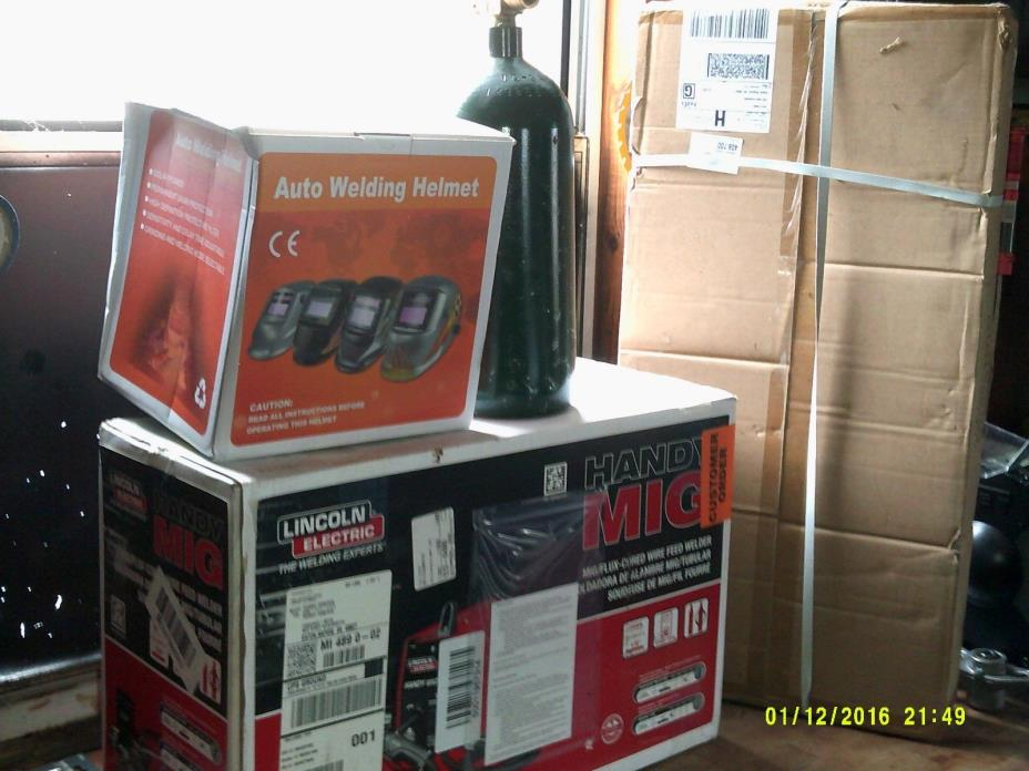 Lincoln Electric Handy MIG Welder, K2185-1 New, helmet, cart and tank (all new)
