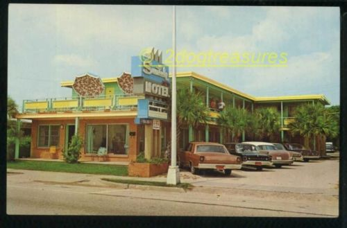Suntide Motel Myrtle Beach Sc South Carolina Ruth And Bill Avant Old Cars Postca