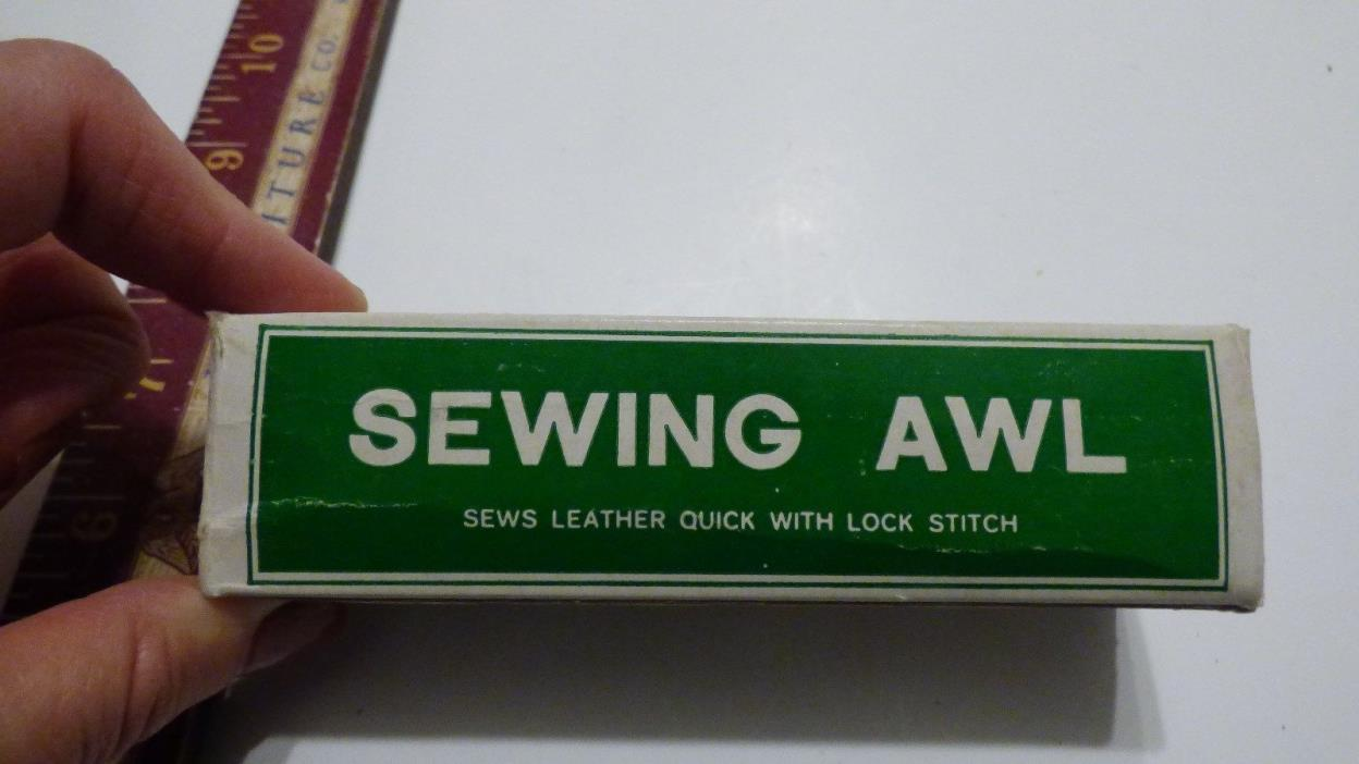 VINTAGE LOCK STITCH SEWING AWL HAND KIT LEATHERCRAFT TOOL