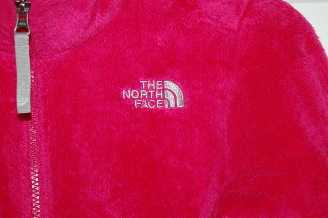 North Face Girls Pink Soft Fleece Jacket Medium 10 / 12