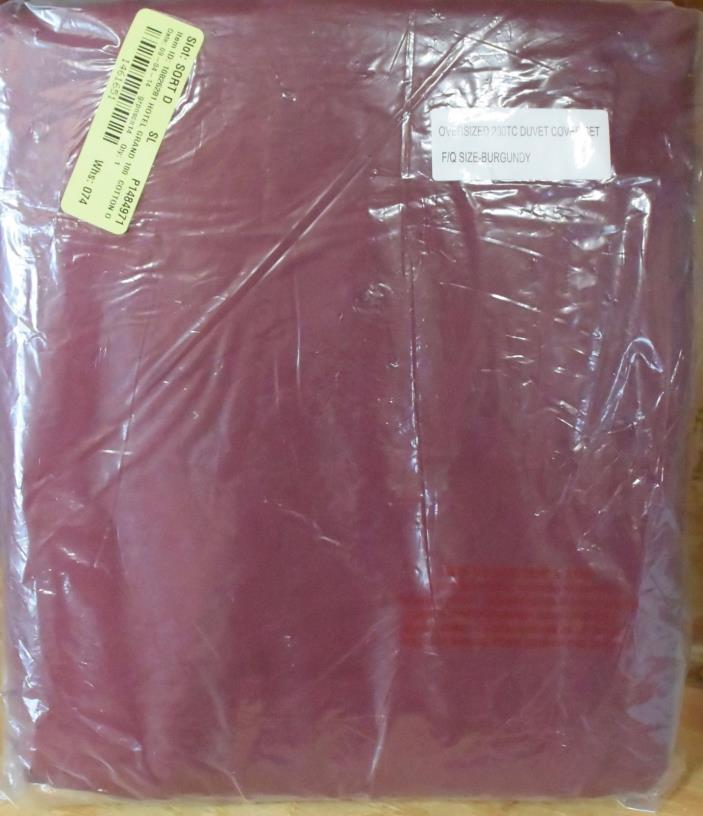 Hotel Grand Egyptian Cotton Duvet Set - Full/Queen - Burgundy {DR6 962-