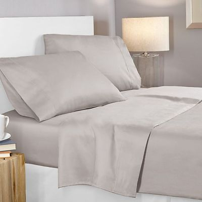 Elegant Comfort 1500 Thread Count Egyptian Quality 4 Queen, Deep Pockets, Gray