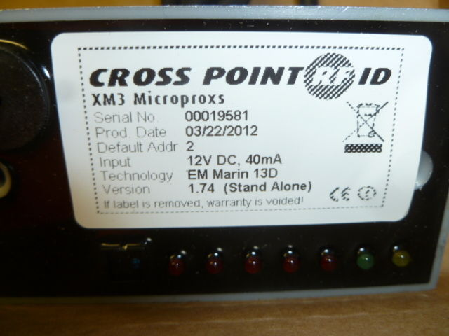 NEW CROSS POINT XM3 MICROPROXS XM3SAEM STAND ALONE PROXIMITY READER CONTROLLER