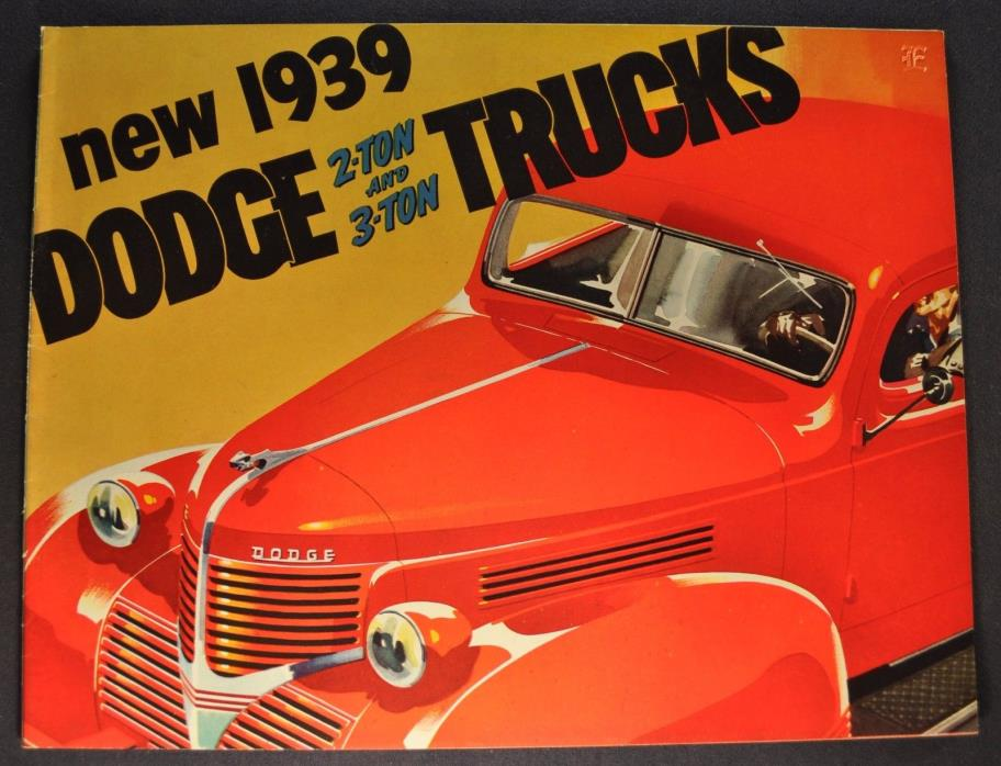 1939 Dodge Truck Brochure 2 & 3 Ton Stake Bus COE Cab Over Excellent Original 39