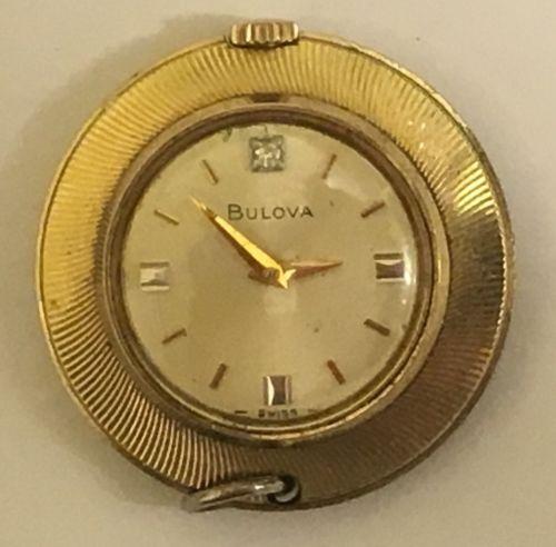 Vintage Bulova Wind Up Necklace Pendant Watch