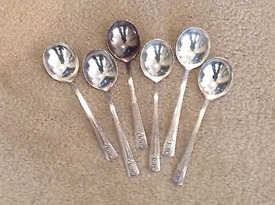 WM Rogers IS Silverplate Flatware Soup Spoons Set of 6