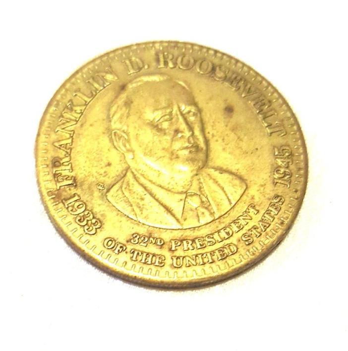Vintage Franklin D. Roosevelt Coin Token