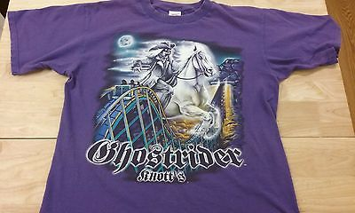 Knott's Berry Farm CA Ghostrider Purple Size L roller coaster horse ghost
